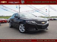 Black 2016 Chevrolet Impala LT 2LT FWD 6-Speed