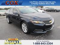 This 2016 Chevrolet Impala LT in Black is well equipped