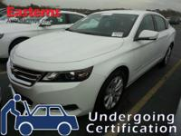 Options:  2016 Chevrolet Impala Lt W/2Lt|White|3.6L
