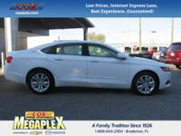 This 2016 Chevrolet Impala LT in White is well equipped