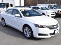 Classy, gloss white Impala 2LT V6 sedan, leather and