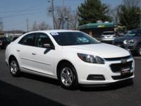 Clean CARFAX. White 2016 Chevrolet Malibu Limited LS