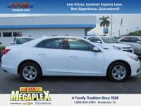 This 2016 Chevrolet Malibu Limited LT in Summit White