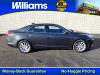Clean CARFAX. Black 2016 Chevrolet Malibu Limited LTZ