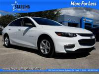 New Price! This 2016 Chevrolet Malibu LS in White