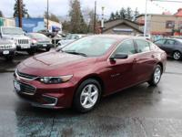 Chevrolet Malibu Red Recent Arrival! 37/27 Highway/City