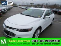 Our 2016 Chevrolet Malibu 1LT in Summit White will