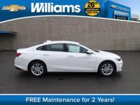 Options:  2016 Chevrolet Malibu Lt|White|Convenience &