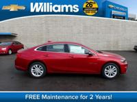 Options:  2016 Chevrolet Malibu Lt|Red|Touch Screen
