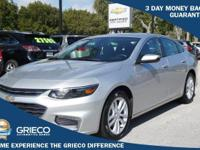 2016 Chevrolet Malibu, GM Certified, 100K Warranty,