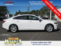 This 2016 Chevrolet Malibu 1LT in White is well