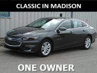 This one owner, 2016 Chevy Malibu has 17-inch wheels,