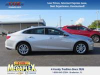 This 2016 Chevrolet Malibu 1LT in Silver Ice Metallic