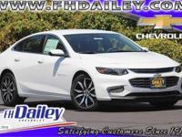 Options:  2016 Chevrolet Malibu 2Lt White Front Bucket