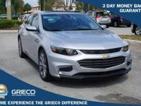 2016 Chevrolet Malibu, GM Certified, 100K Warranty,