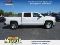 This 2016 Chevrolet Silverado 1500 LT in White is well