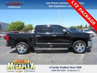 This 2016 Chevrolet Silverado 1500 LTZ in Black is well