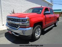 Clean CARFAX. Red 2016 Chevrolet Silverado 1500 LTZ 4WD