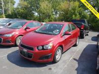 Recent Arrival!   Red 2016 Chevrolet Sonic LT FWD
