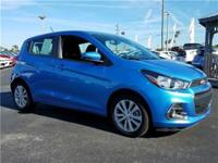 2016 Chevrolet Spark 1LT in Blue, Sunroof, and