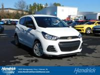 Options:  2016 Chevrolet Spark Ls|Summit White/Jet