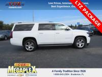 This 2016 Chevrolet Suburban LTZ in White is well