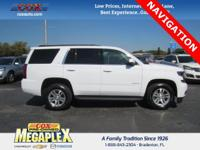 This 2016 Chevrolet Tahoe LT in White is well equipped