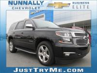 Certified. Black 2016 Chevrolet Tahoe LTZ 4WD 6-Speed