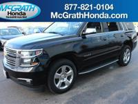Leather Seating and Sunroof/Moonroof. Tahoe LTZ NAVI,