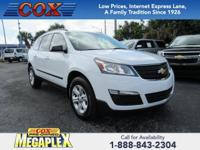 This 2016 Chevrolet Traverse LS in is well equipped