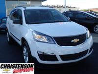 2016+Chevrolet+Traverse+LS+in+Summit+White+at+Christens