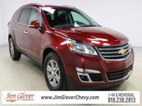 Drive home this 2016 Chevrolet Traverse LT in Siren Red