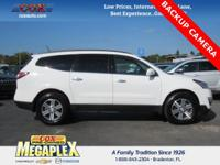 Certified. This 2016 Chevrolet Traverse LT in White is