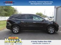 This 2016 Chevrolet Traverse LT in Mosaic Black
