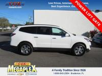 This 2016 Chevrolet Traverse LT in White is well