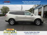 This 2016 Chevrolet Traverse LT in Beige is well