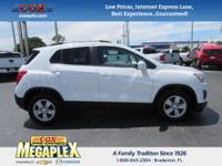 This 2016 Chevrolet Trax 1LT in White is well equipped
