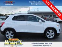 This 2016 Chevrolet Trax LTZ in Summit White is well