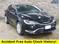 2016 Chrysler 200 Black Clearcoat 36/23 Highway/City