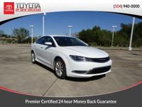 CARFAX One-Owner. White 2016 Chrysler 200 Limited FWD