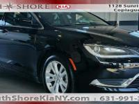 Black 4D Sedan 2016 Chrysler 200 Limited FWD 9-Speed