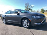Recent Arrival! 2016 Chrysler 200 Limited Gray Clean