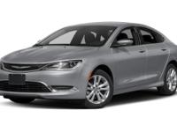 CARFAX One-Owner. Black 2016 Chrysler 200 Limited FWD