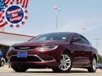 2016 Chrysler 200 Velvet Red Pearlcoat 9-Speed 948TE
