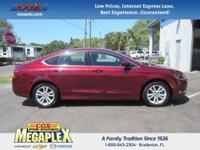 This 2016 Chrysler 200 Limited in Red is well equipped