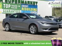 CarFax 1-Owner, This 2016 Chrysler 200 LIMI will sell