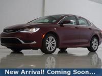 2016 Chrysler 200 Limited in Velvet Red Pearlcoat, This