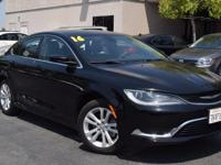 CARFAX One-Owner. Clean CARFAX. Black 2016 Chrysler 200