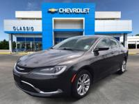 Gray 2016 Chrysler 200 Limited FWD 9-Speed 948TE