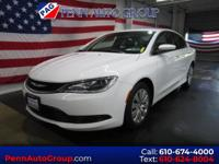 CARFAX One-Owner. Clean CARFAX. White 2016 Chrysler 200
